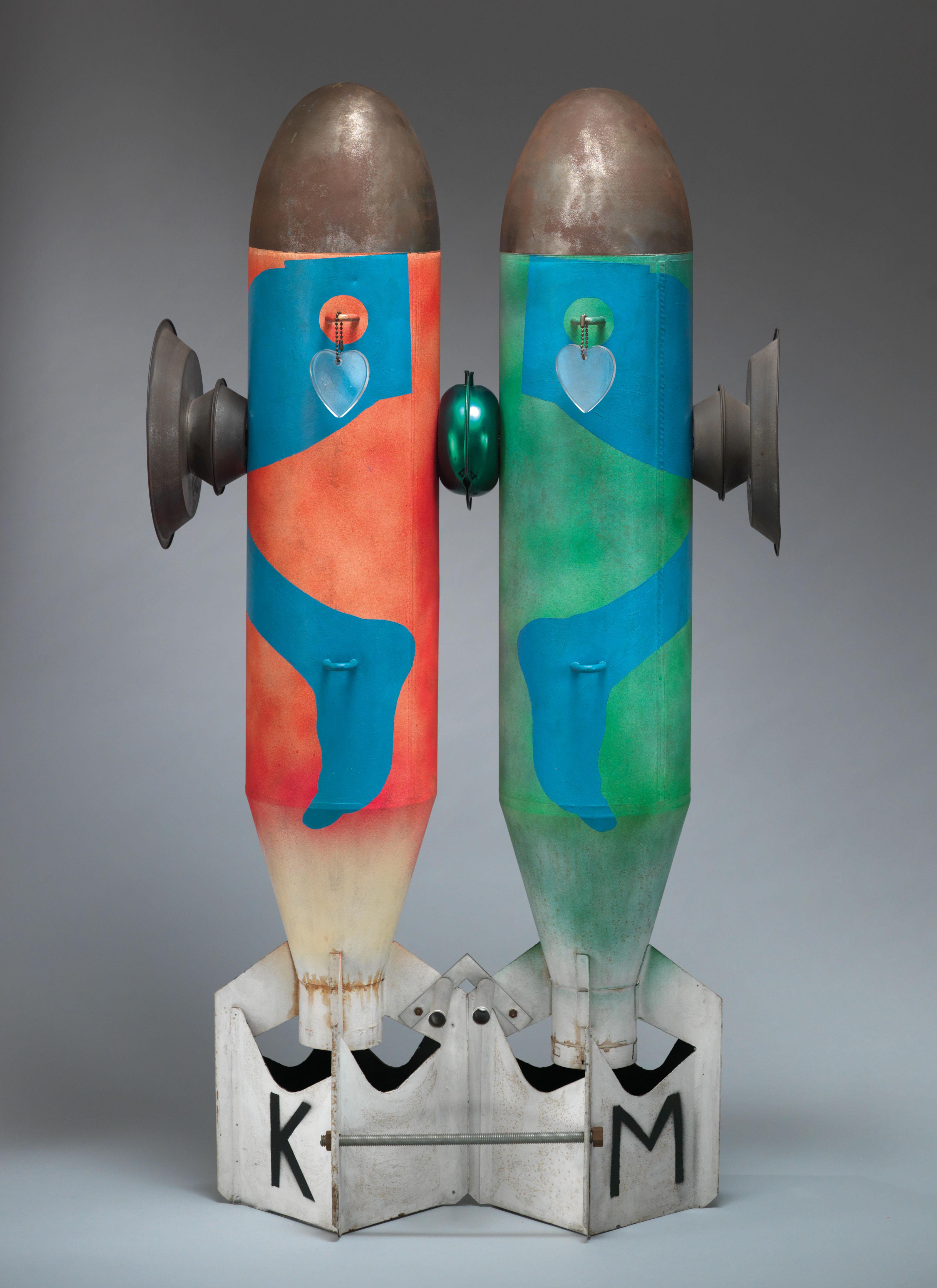 Kiki Kogelnik: Bombs in Love, 1962; z dovoljenjem Kevin Ryan/Kiki Kogelnik Foundation Dunaj/New York